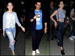 Celebrity Airport Look Spotted Kangana In Her Travel Outfit