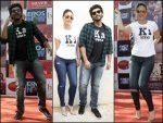 Kareena And Arjun Sporting Laid Back Casuals For Their Movie Promotion