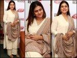 Kajol Meets Pm Dressed In Simple Elegant Indian Outfit
