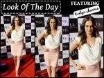 Look Of The Day Evelyn Sharma At The Launch Of La Hair Affaire