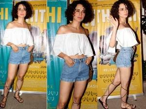 Kangana Ranaut Style Dressed In Summer Trends At Movie Screening