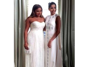 Mindy Kaling Freida Pinto At Met Gala 2016 In Whites