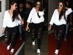 Malaika Arora Khan Fashion Dressed In Stylish Travel Outfit