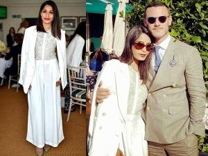 Freida Pinto Fashion Wimbledon 2016 All White Outfit