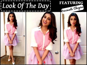 Look Of The Day Parineeti Chopra For Bfg Promotions Wearing Skirt