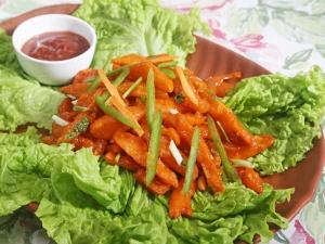 Crispy Potato Fries In Manchurian Style