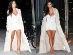 Kim Kardashian Latest Date Kanye West She Wears White
