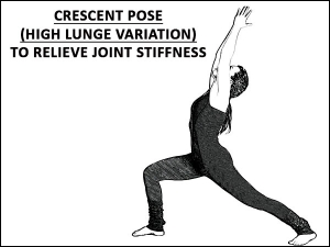 Crescent Pose High Lunge Variation To Relieve Joint Stiffness