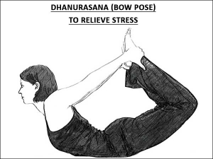 Dhanurasana Bow Pose To Relieve Stress
