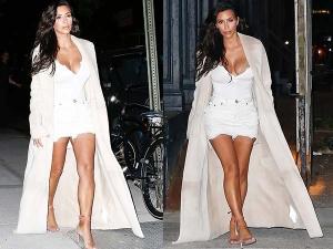 Kim Kardashian Latest Date Kanye West She Wears White