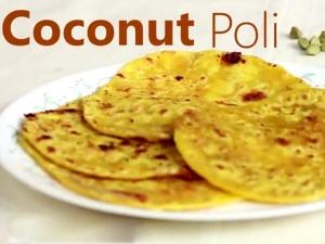 Coconut Puran Poli Obatu Sweet Recipe For Navratri Video