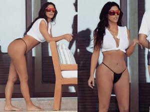 Kim Kardashian Wishes Her Assistant In Shocking Swimwear On Instagram