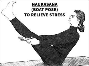 Naukasana Boat Pose To Relieve Stress