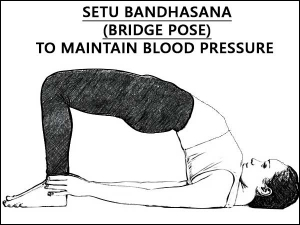 Setu Bandhasana Bridge Pose To Maintain Blood Pressure