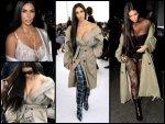 Kim Kardashian At Paris Fashion Week Goes Braless
