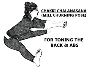 Chakki Chalanasana For Toing The Back And Abs