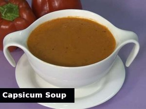Roasted Capsicum Soup For Diwali