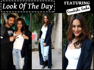 Look Of The Day Sonakshi Sinha At Force 2 Promotions