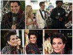 Kris Jenner Hosts Golden Globe Red Carpet In Detailed Dress
