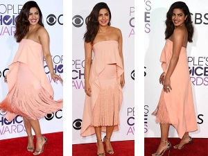 Priyanka Chopra Red Carpet Lookbook At Peoples Choice Awards