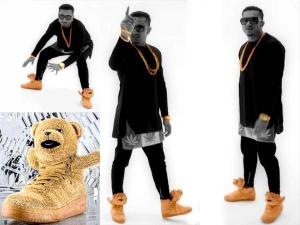 Yo Yo Honey Singh Golden Adidas Teddy Sneakers
