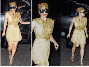 Golden Girl Lady Gaga Spotted In Nyc