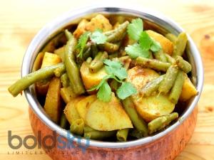Shravan Recipe Masaledar Aloo Beans Ki Sabji