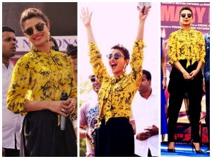 Priyanka Chopra In Quirkbox Shirt Fresh From Ramp