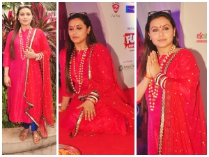 Rani Mukerji Pretty In Red Suit