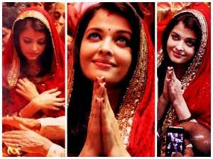 Aishwarya Rai In Red Suit At Lalbaugcha Raja