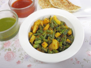 Quick Aloo Beans Ki Sabzi For Working People