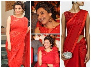 Red Hot Kajal Aggarwal In Net Saree