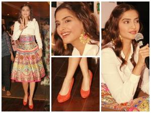 Sonam Kapoor Looks Vibrant In Manish Arora