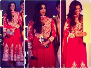 Tabu Red Hot In Abu Jani Sandeep Khosla Suit