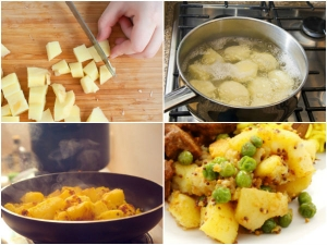 Quick Easy Aloo Matar Fry