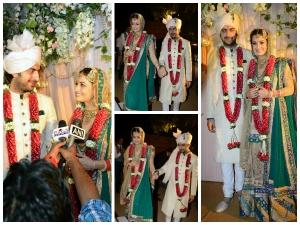 Bride Dia Mirza Weds Sahil Sangha Pics