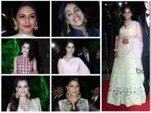 Dazzling Damsels At Arpita Khan Wedding Reception