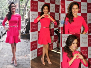 Shraddha Kapoor In Pretty Pink Dress At Lakme Event
