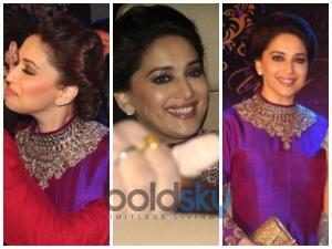 Madhuri Dixit Royal Look In Manish Malhotra