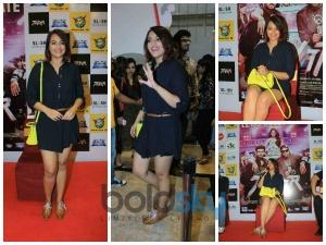 Sonakshi Sinha Appealing Style In Short Shirt Dress At Tevar Promotions In Powai