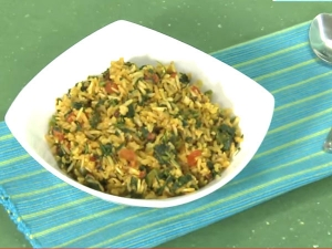 Iron Rich Tomato Methi Pulao Recipe