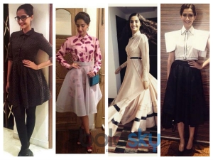 Ten Sizzling Attires Worn By Sonam Kapoor At Dolly Ki Doli Promotions