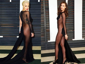Half Nude Dresses At The Oscars 2015 Party