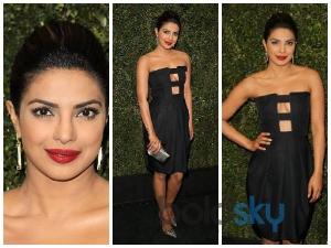 Priyanka Chopra Attends Two Oscar 2015 Parties
