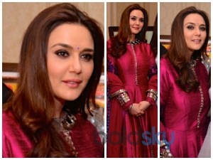 Preity Zinta Dons A Manish Malhotra Suit At Cequin Charity Event