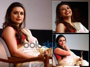 Rani Mukerji Angelic Look In White Saree At Awards Ceremony