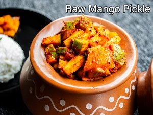 Instant Mango Pickle Recipe  Aam ka achar recipe  Raw Mango Pickle Recipe