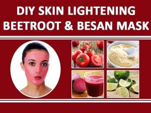 DIY Skin Lightening Beetroot & Besan Mas