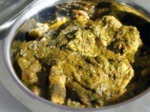 Palak Chicken Microwave Recipe