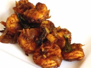 Kerala Style Prawn Pepper Fry
